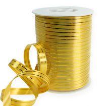 Delat band 2 guldremsor på guld 10mm 250m
