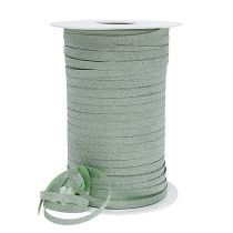 Presentband med glimmer ljusgrön 5mm 150m