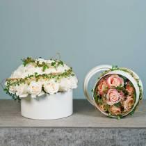 Blomlåda rund kartongkräm Ø15,5 / 19 cm uppsättning 2