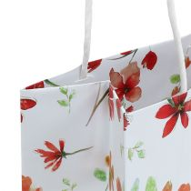 Presentpåsar med blommor 25 cm x 20 cm x 11 cm 6 st