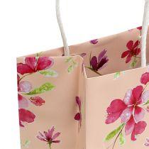 Presentpåsar med blommor 20 cm x 11 cm x 25 cm 6 st