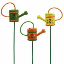 Blommapluggs vattenkanna trägrön, gul, orange blandad 7,5 cm x 5,9 cm H30,5 cm 12st
