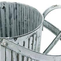 Metallburk för plantering, vattenkanna för dekorering, planteringsburk Ø17cm