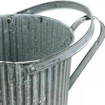 Vattenkanna för plantering, dekorativ metallkanna, planteringsplatta Ø19,5cm