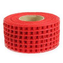 Gitterband 4,5 cm x 10 m röd