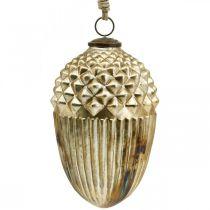 Höstdekoration, dekorativ ekollon äkta glas, advent, antikt utseende Ø12cm H21cm