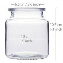 Glaskärl för fyllning, vas, blomdekor, glaslykta 2st