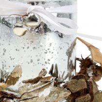 Teallight-glas med krans 10cm