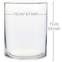 Glasvas Ø12cm H15cm