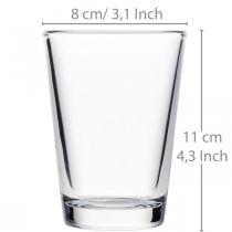 Glasvas klar Ø8cm H11cm för bordsdekoration