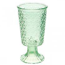 Glaslykta, koppglas med bas, glaskärl Ø10cm H18,5cm
