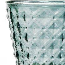 Koppglas med fot, glaslykta Ø11cm H15,5cm