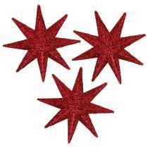 Glitter stjärnröd Ø5cm 20st