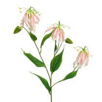 Gloriosa rosa och vita konstgjorda 84 cm 3st