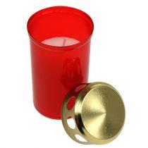 Grava ljus cylindrisk röd Ø6cm H12cm 12st