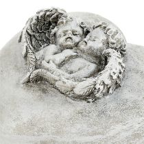 Grava smyckenhjärtan med änglar 9cm 3st