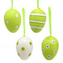 Hängare plast ägg grön 6cm 12st