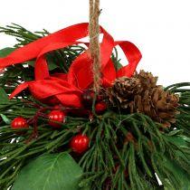 Julhängare med kottar och bär 16cm