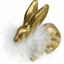 Påsk dekoration kanin gyllene sittande Påsk kanin bordsdekoration 4st