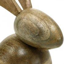 Sittande träkanin, dekorativ kanin, trädekoration, påsk 18cm