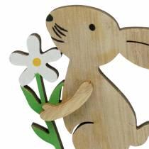 Blommakanin av trä 9cm 12st