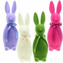 Flockad kanin 49cm Olika färger