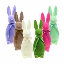 Flockad kanin 30 cm Olika färger 2st