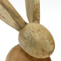 Påsk dekoration kanin trä dekoration sittande påsk kanin natur 12cm 4st