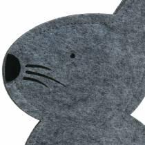 Kanin sitter Filt Grey 27cm x 6cm H40.5cm