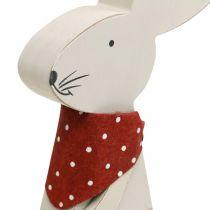 Kaninflicka, vårdekoration, träkanin med en hink, påskkanin