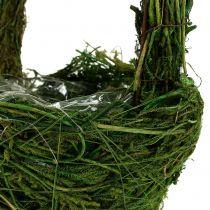 Hantera korgmossa Ø18cm H27cm grön