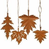 Hösten lämnar patina för hängning 13cm 4st