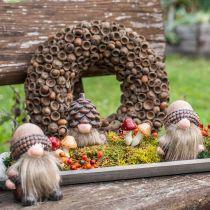 Höstens dekorationskrans av ekollon naturlig krans Ø30cm
