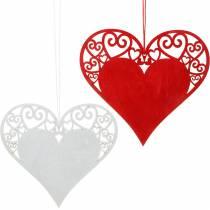 Hjärta att hänga, bröllopsdekoration, hängen hjärta, hjärta dekoration, Alla hjärtans dag 12st