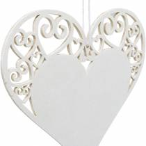Hjärtdekoration att hänga, bröllopsdekoration, hjärthängande i trä, hjärtdekoration, Alla hjärtans dag 12st