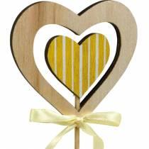 Dekorativ plugg fjärilsblomma och hjärta, vårdekoration, blomplugg, Alla hjärtans dag 9st