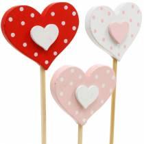 Dekorativt plugghjärta, bröllopsdekoration, blomdekoration för alla hjärtans dag, hjärtdekoration 24st