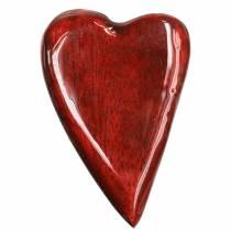 Mangoträhjärtor glaserade röda 6,2–6,6 cm × 4,2–4,7 cm 16st