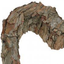 Deco hjärta öppen tallbark höstdekoration gravdekoration 30 × 24cm