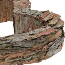 Deco hjärta träbark 40 × 32cm