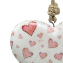 Dekorativt hängande hjärta keramiskt 11 cm x 10 cm
