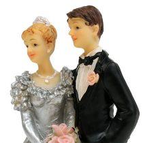 Bröllopspar för silverbröllop 14cm