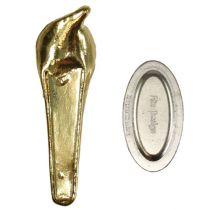 Bröllop märke med magnet guld 5cm