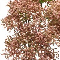 Elderberry artificiell rosa blomgren 52cm 4st