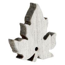 Trä lönnlöv blandad vit tvättad 30p