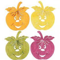 Streudeko skrattande äpple, höst, bordsdekoration, krabba äpple apelsin, gul, grön, rosa H3.5cm B4cm 72st