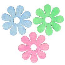 Träblomma för spridning av rosa, grön, blå Ø4cm 72st