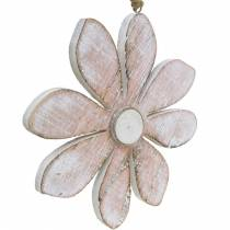 Pastell dekorativa blommor, sommarblommor, träblomningar, blomdekorationer för hängande Ø12,5cm 3st