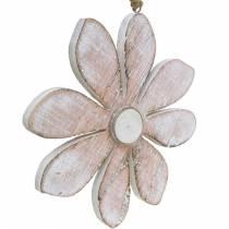 Träblommor att hänga, sommar, blommor i pastellfärger, vårdekoration Ø16cm 3st