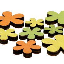 Träblomma 2-3,5 cm orange, grön, gul 36st